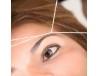 Depilación y diseño de cejas con hilo